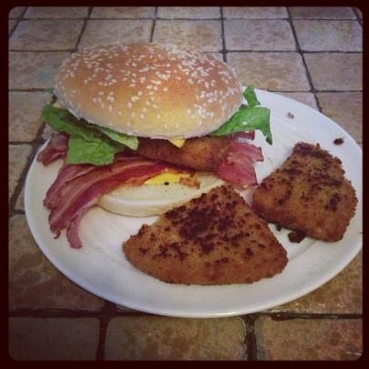 burger cordon bleu